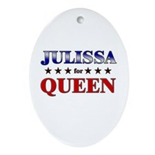 JULISSA for queen Oval Ornament