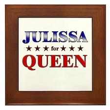 JULISSA for queen Framed Tile