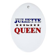 JULIETTE for queen Oval Ornament