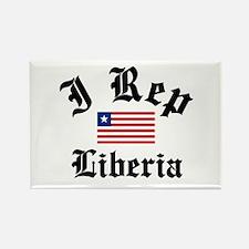 I rep Liberia Rectangle Magnet