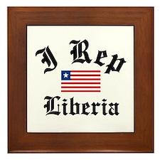 I rep Liberia Framed Tile