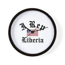 I rep Liberia Wall Clock