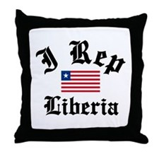 I rep Liberia Throw Pillow