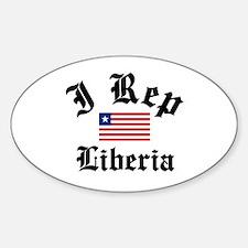 I rep Liberia Oval Decal