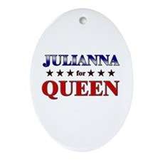 JULIANNA for queen Oval Ornament
