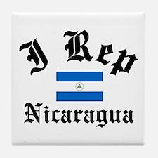 I rep Nicaragua Tile Coaster