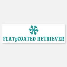 FLAT-COATED RETRIEVER Snowfla Bumper Bumper Bumper Sticker