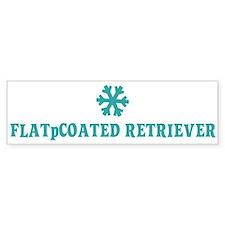 FLAT-COATED RETRIEVER Snowfla Bumper Bumper Sticker