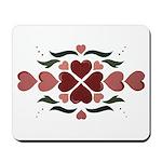 Folk Art Hearts Mousepad