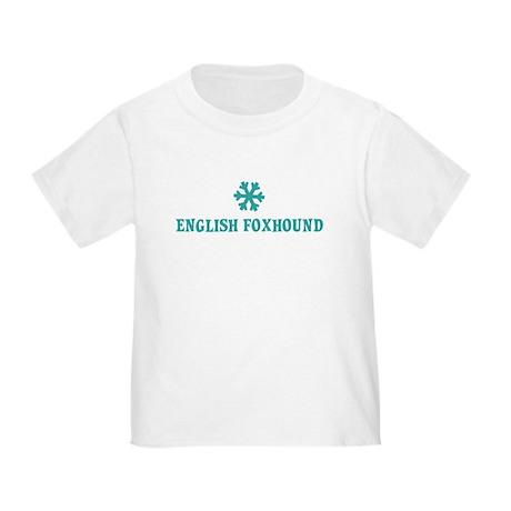 ENGLISH FOXHOUND Snowflake Toddler T-Shirt