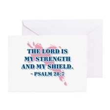 Psalm 28:7 Greeting Cards (Pk of 20)