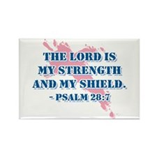 Psalm 28:7 Rectangle Magnet (100 pack)