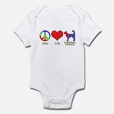 Peace Love Wire Podengo Infant Bodysuit