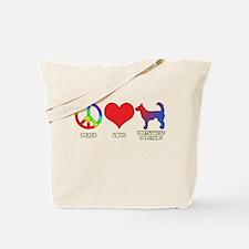 Peace Love Wire Podengo Tote Bag