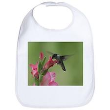 Hummingbird and Gladiolas Bib
