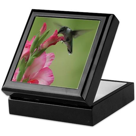 Hummingbird And Gladiolas Keepsake Box