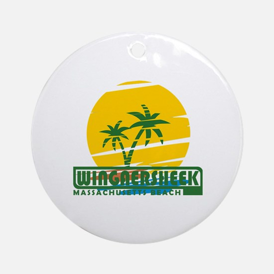 Funny Rockport Round Ornament