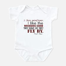 Douglas Adams Deadlines Quote Infant Bodysuit