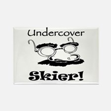Undercover Skier Rectangle Magnet (10 pack)