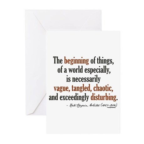 Kate Chopin Creation Quote Greeting Cards (Pk of 1