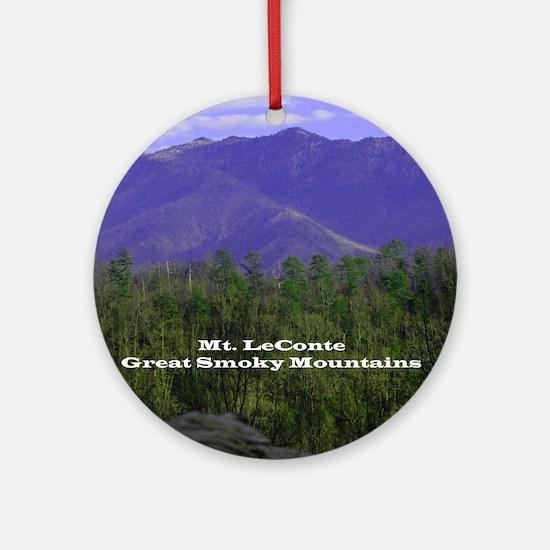 Mt Leconte (round) Round Ornament