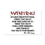 Moliere Writing Quote Mini Poster Print