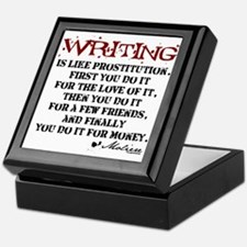 Moliere Writing Quote Keepsake Box