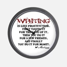 Moliere Writing Quote Wall Clock
