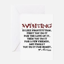 Moliere Writing Quote Greeting Card