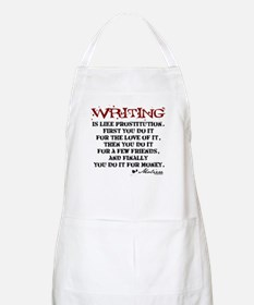 Moliere Writing Quote BBQ Apron