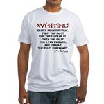 Moliere Writing Quote Fitted T-Shirt