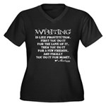 Moliere Writing Quote Women's Plus Size V-Neck Dar