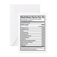 Nutrition Facts For 3L Greeting Card