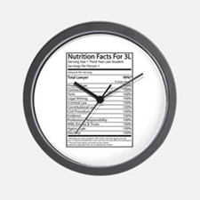 Nutrition Facts For 3L Wall Clock