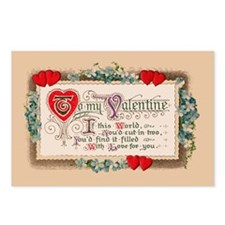 Valentine Vintage Replica Postcards (Package of 8)