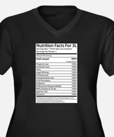 Nutrition Facts For 3L Women's Plus Size V-Neck Da