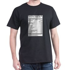 Nutrition Facts For 3L T-Shirt