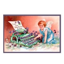Cupid's TypewriterVintage Postcards (Pkg of 8)