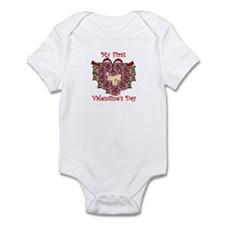 First Valentine's Day PINK Infant Bodysuit