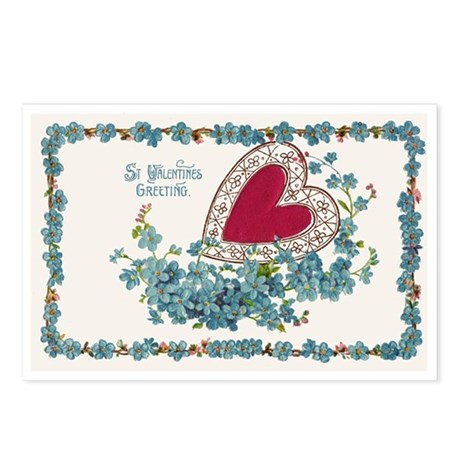 St. Valentine's Vintage Postcards (Package of 8)