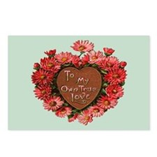Daisy Heart Vintage Valentine Postcards (Pkg of 8)