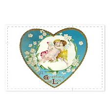 Cupid's Love Vintage Valentine Postcards (8 pack)