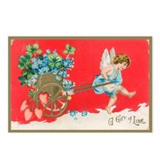 Gift Of Love Vintage Valentine Postcards (8 pack)
