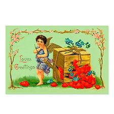 Box of Love Vintage Valentine Postcards (8 pack)