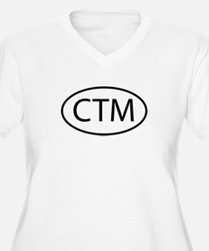 CTM Womes Plus-Size V-Neck T-Shirt