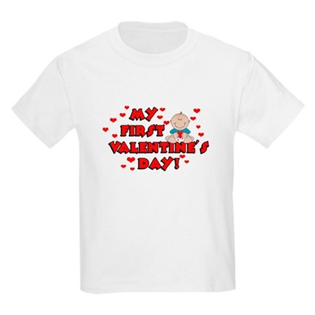 My 1st Valentine's Day BOY Kids Light T-Shirt