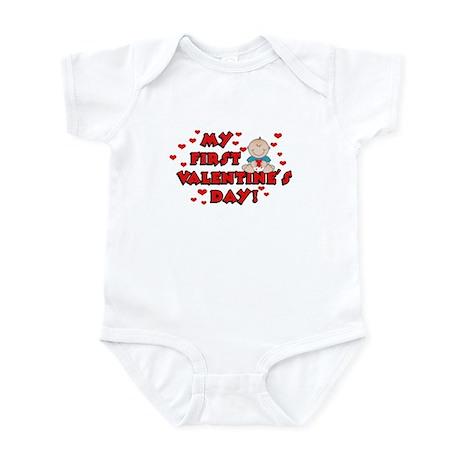 My 1st Valentine's Day BOY Infant Bodysuit