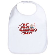 My 1st Valentine's Day BOY Bib