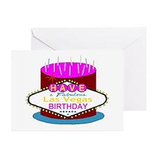 Las Vegas Birthday Cake Greeting Cards (Pk of 10)