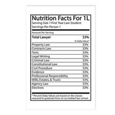 Nutrition Facts For 1L Postcards (Package of 8)